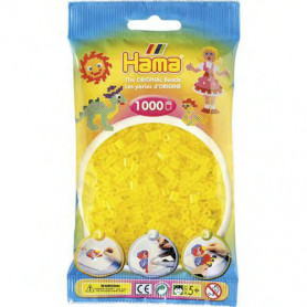 Hama strijkkralen 14 Geel Doorzichtig