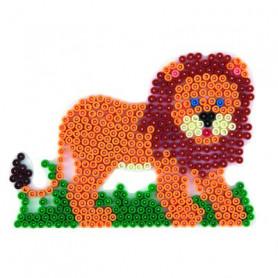 Grondplaat Hama leeuw