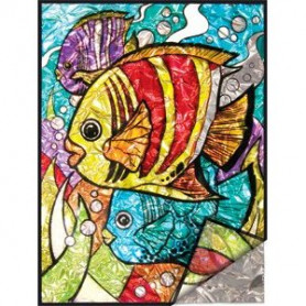 Foil painting by numbers Tropical Fish