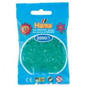 Hama mini kralen kl 16 groen doorzichtig