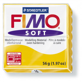 Fimo soft nr 16 Zonnebloem geel