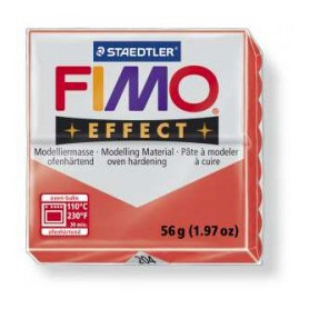 Fimo Effect nr. 204 Transparant rood