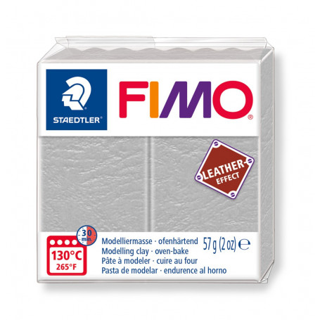 Fimo leather-effect 57 g duifgrijs nr. 809