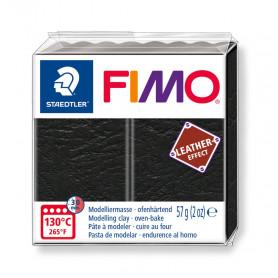 Fimo leather-effect 57 g  schwarz nr. 909
