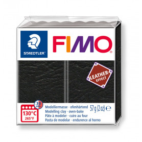 Fimo leather-effect 57 g zwart nr. 909
