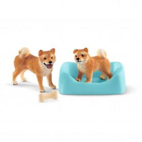 Schleich 42479 Shiba Inu mother and puppy