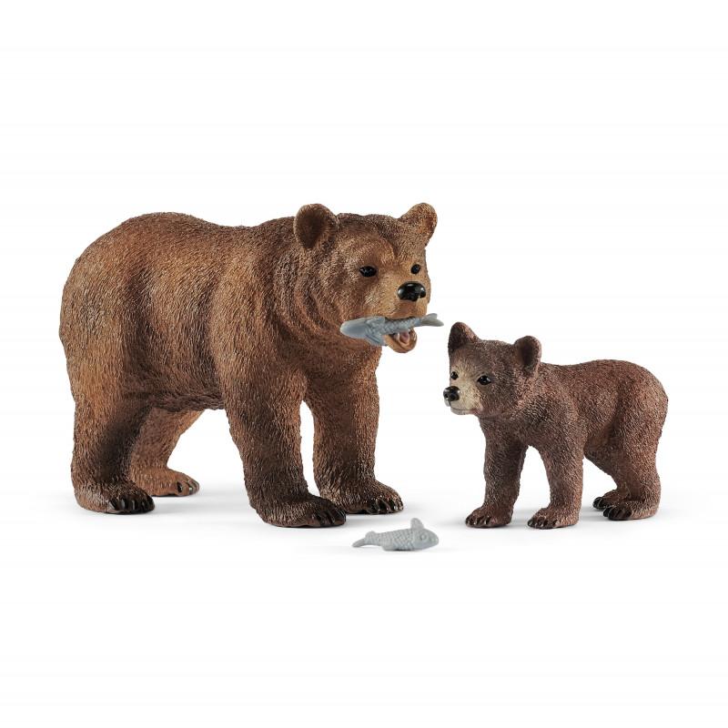 Schleich 42473 Grizzly beer moeder met jong