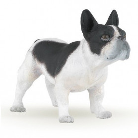 Papo 54006 French black and white bulldog
