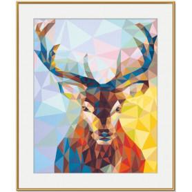 Hirsch - Polygon Art