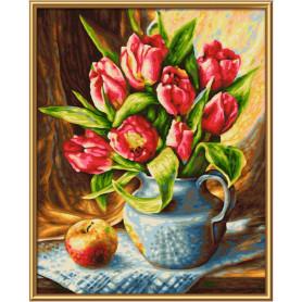 Een bos tulpen