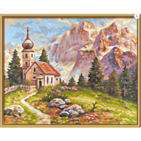 Little church in the Dolomites