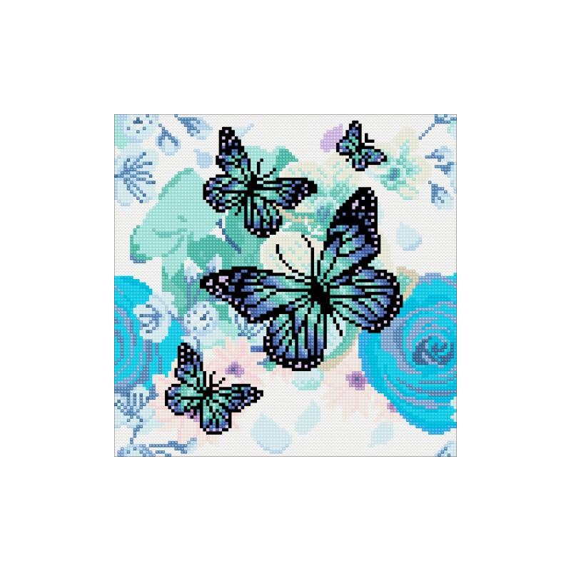 Crystal Art Orchids & Butterflies - 30x30 cm - Full DP