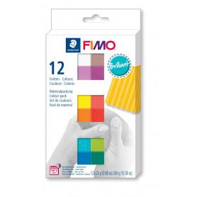 FIMO soft set met 12 halve blokken Basic
