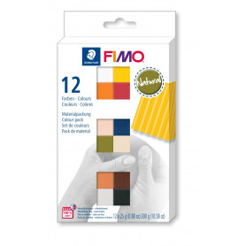 FIMO soft set met 12 halve blokken Natural