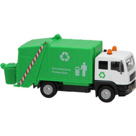 Metalen vuilniswagen met licht en geluid
