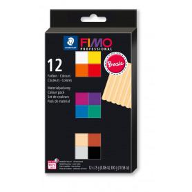 Fimo Professional set met 12 halve blokken Basic