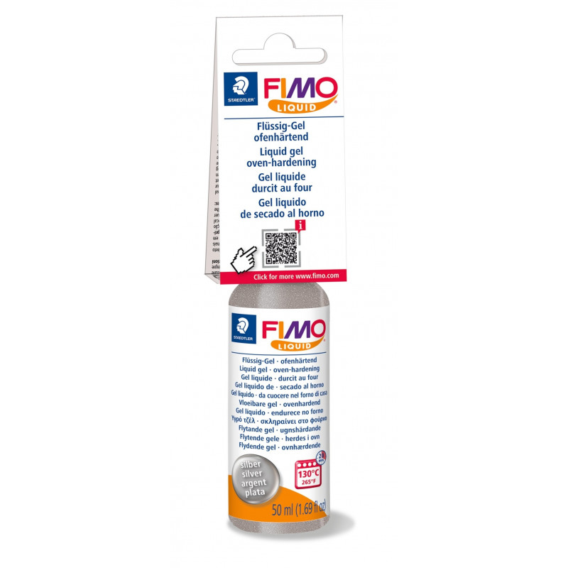 Fimo Deco Gel - Fimo Liquid - Zilver - 50 ml