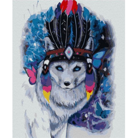 Polar Fox - Paint by Numbers - 50 x 40 cm