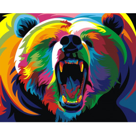 Rainbow Bear - Paint by Numbers - 40 x 50 cm