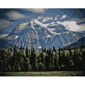 Mountains - malen nach zahlen - 40 x 50 cm