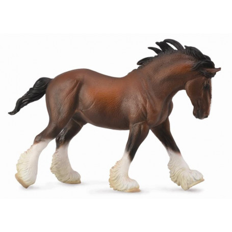 Collecta 88621 Clydesdale Hengst voskleurig