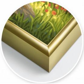 2 Gold-colored aluminium frames 24 x 30 cm