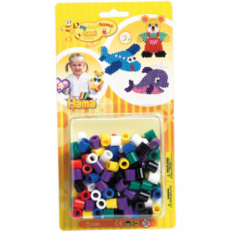 Hama maxi strijkkralen primaire kleuren mix 250 st.