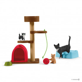 Schleich 42501 Spielspaß für niedliche Katzen