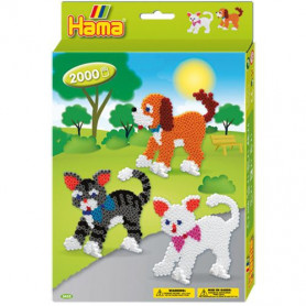 Hama Strijkkralenset Dog & Cat 2000st.