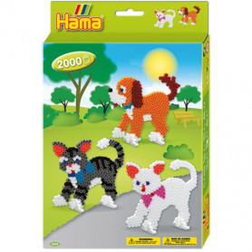 Hama Strijkkralenset Hond & Kat 2000st.