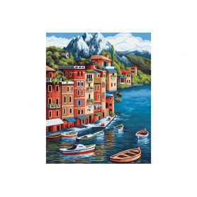 Mountain Town  Painting by numbers