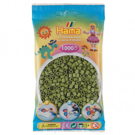 Hama strijkkralen 84 Olijf Groen