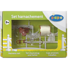 Papo 50091 Set Zaumzeug und Sattel