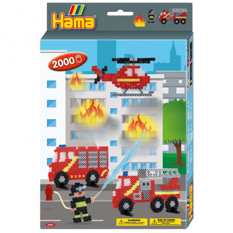 Hama Strijkkralenset Brandweer 2000st.
