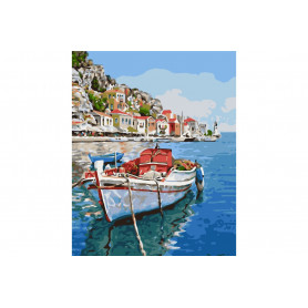 Kit Boat - Schilderen op nummer - 40 x 50 cm