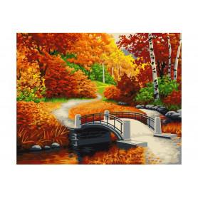 Golden Autumn - Schilderen op nummer - 40 x 50 cm