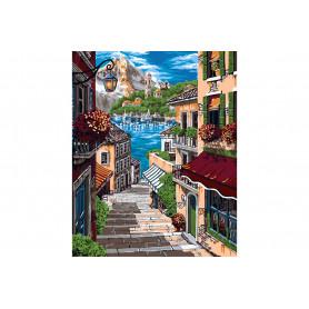 European Alley - Schilderen op nummer - 40 x 50 cm