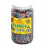 Hama 13.000 strijkkralen in pot kleurenmix streepjes