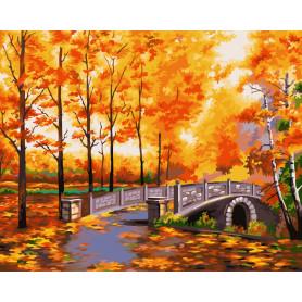 Autumn Park - Schilderen op nummer - 40 x 50 cm