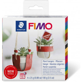 Fimo Leather DIY Plant hangers Set