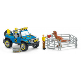 Schleich 41464 Terreinwagen met Dino buitenpost