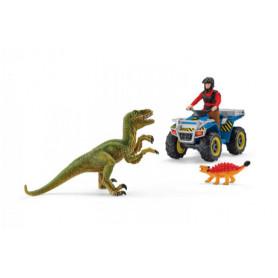 Schleich 41466 Fuite sur quad au vélociraptor