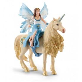 Schleich 42508 Eyela riding on golden unicorn