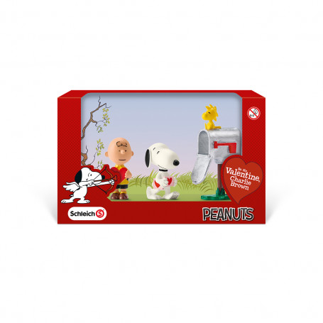 Schleich 22033 Snoopy Valentine's Day Scenery Pack