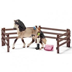 Schleich 42270 Paardenverzorgingsset Andalusiër Merrie