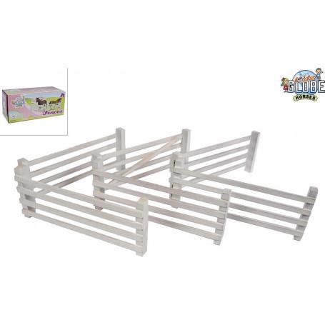 Kids Globe 6 houten hekken Wit