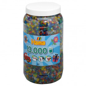 Hama 13.000 strijkkralen in pot Transparantmix