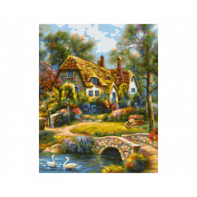 Oud Engels boerderijtje - Schipper 24 x 30 cm