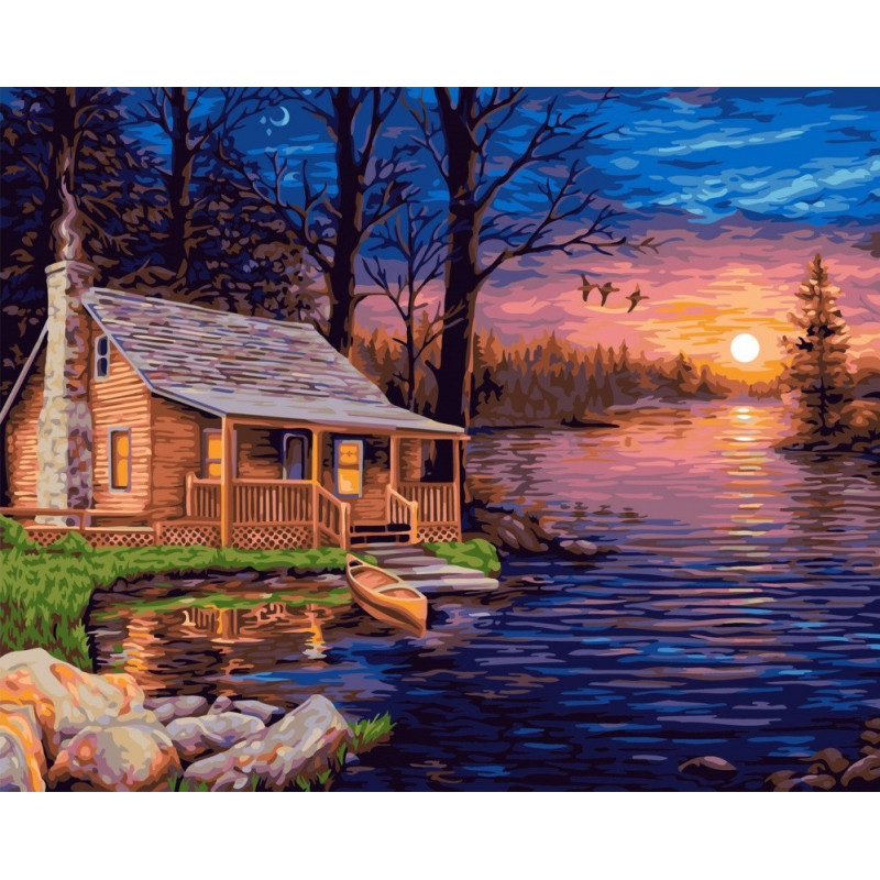 Fisherman's Hut - Paint by Numbers - 40 x 50 cm