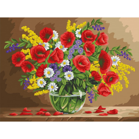 Fragrant Poppies - Schilderen op nummer - 40 x 50 cm